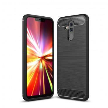 Brushed Carbon TPU géles védőtok Huawei Mate 20 Lite készülékekhez – fekete