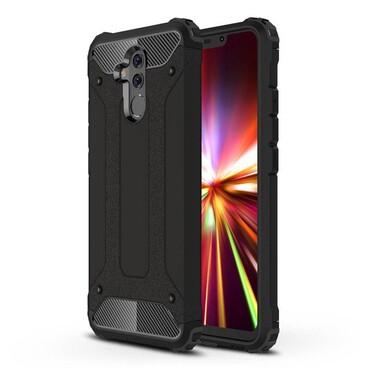 """Strapabíró """"Rock"""" védőtok Huawei Mate 20 Lite készülékekhez – fekete"""