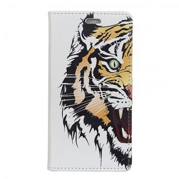 """Divatos """"Tiger"""" tárca Huawei Mate 20 Lite készülékekhez"""
