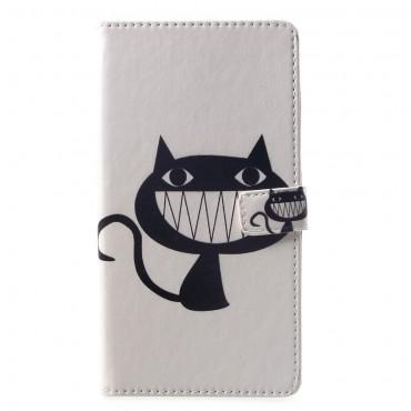 """Divatos """"Evil Kitten"""" tárca Huawei Mate 20 Lite készülékekhez"""