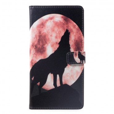 """Divatos """"Howling Wolf"""" tárca Huawei Mate 20 Lite készülékekhez"""