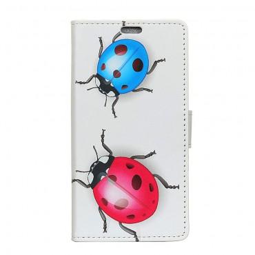 """Divatos """"Ladybugs"""" tárca Huawei Mate 20 Lite készülékekhez"""