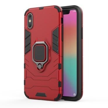 """Strapabíró """"Impact X Ring"""" védőtok iPhone X / XS készülékekhez – piros"""