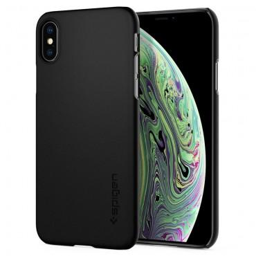"""Tok Spigen """"Thin Fit"""" iPhone X / XS készülékekhez - black"""