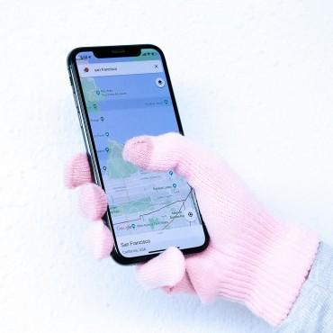 Kesztyű érintőképernyőhöz iGlove – rózsaszín
