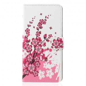"""Divatos nyitható tok """"Flower Bloom"""" Huawei Mate 20 Lite készülékekhez"""