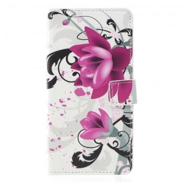 """Divatos nyitható tok """"Lotus Flower"""" Huawei Mate 20 Lite készülékekhez"""
