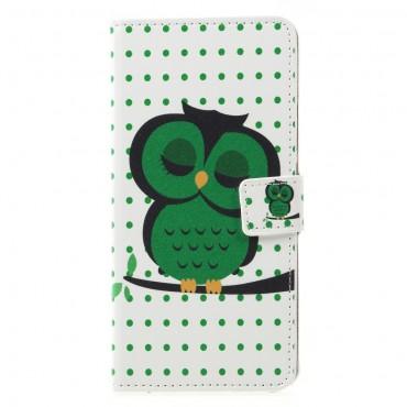 """Divatos nyitható tok """"Sleeping Owl"""" Huawei Mate 20 Lite készülékekhez"""