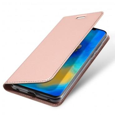"""Divatos """"Skin"""" műbőr tárca Huawei Mate 20 Pro készülékekhez – rózsaszín"""