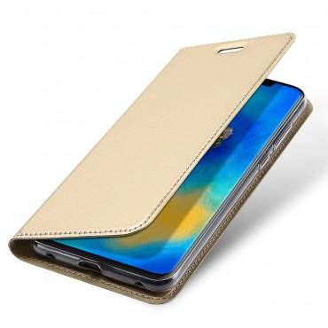 """Divatos """"Skin"""" műbőr tárca Huawei Mate 20 Pro készülékekhez – aranyszínű"""