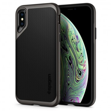 """Spigen """"Neo Hybrid"""" védőtok iPhone X / XS készülékhez - gunmetal"""