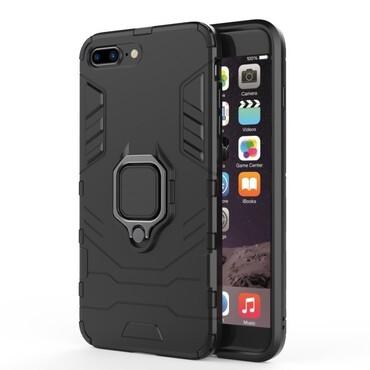 """Strapabíró """"Impact X Ring"""" védőtok iPhone 8 Plus / iPhone 7 Plus készülékekhez – fekete"""