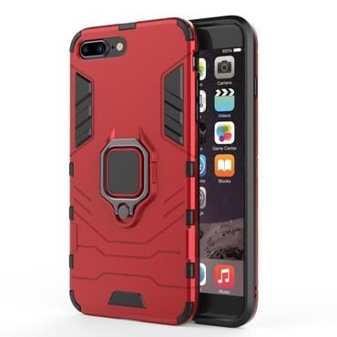 """Strapabíró """"Impact X Ring"""" védőtok iPhone 8 Plus / iPhone 7 Plus készülékekhez – piros"""