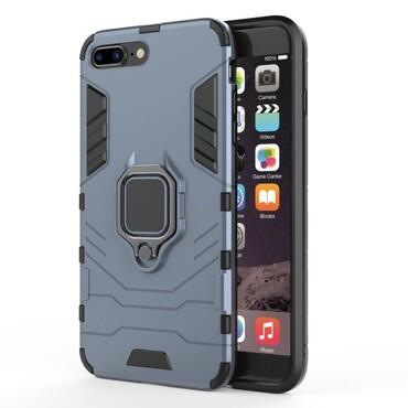 """Strapabíró """"Impact X Ring"""" védőtok iPhone 8 Plus / iPhone 7 Plus készülékekhez – ezüstszínű"""