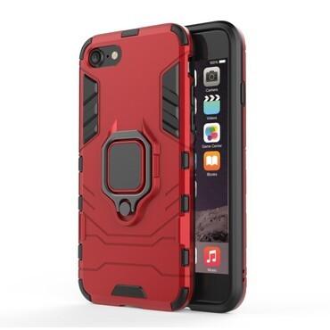 """Strapabíró """"Impact X Ring"""" védőtok iPhone 8 / iPhone 7 készülékekhez – piros"""