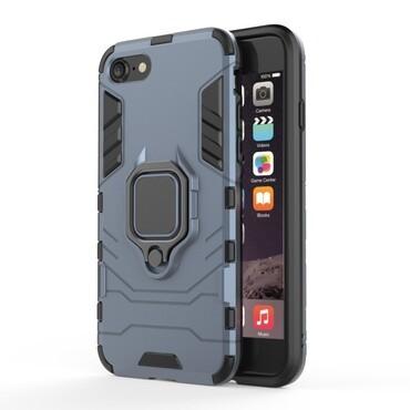 """Strapabíró """"Impact X Ring"""" védőtok iPhone 8 / iPhone 7 készülékekhez – ezüstszínű"""
