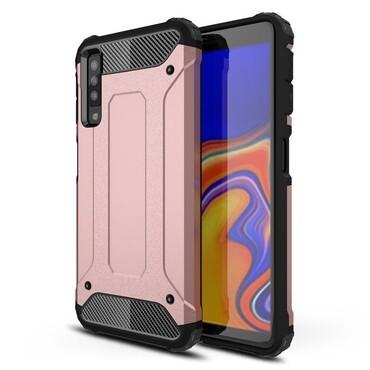 """Strapabíró """"Rock"""" védőtok Samsung Galaxy A7 2018 készülékekhez – rózsaszín"""
