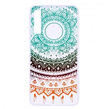 """Vékony TPU géles """"Colorful Mandala"""" védőtok Samsung Galaxy A7 2018 készülékekhez"""