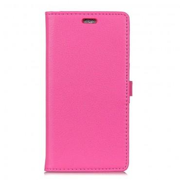 """Elegáns """"Litchi"""" tárca Samsung Galaxy A7 2018 készülékekhez – rózsaszín"""