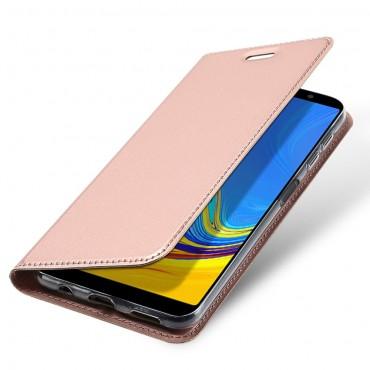 """Divatos """"Skin"""" műbőr tárca Samsung Galaxy A7 2018 készülékekhez – rózsaszín"""