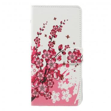 """Divatos """"Flower Bloom"""" tárca Samsung Galaxy A7 2018 készülékekhez"""