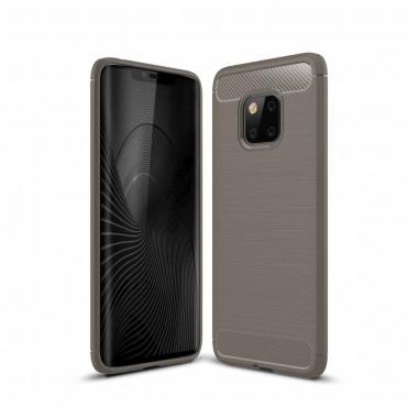 Brushed Carbon TPU géles védőtok Huawei Mate 20 Pro készülékekhez – szürke