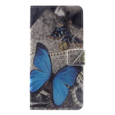 """Divatos """"Blue Butterfly"""" tárca Huawei Mate 20 Pro készülékekhez"""