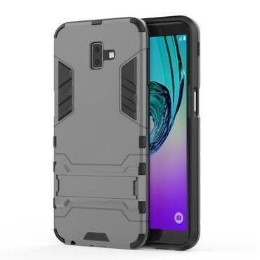 """Strapabíró """"Impact X"""" védőtok Samsung Galaxy J6 Plus készülékekhez - szürke"""
