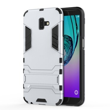 """Strapabíró """"Impact X"""" védőtok Samsung Galaxy J6 Plus készülékekhez - ezüstszínű"""