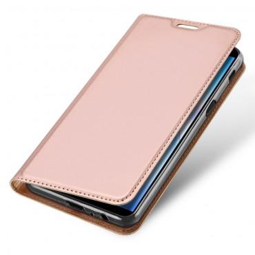 """Divatos """"Skin"""" műbőr tárca Samsung Galaxy J6 Plus készülékekhez - rózsaszín"""