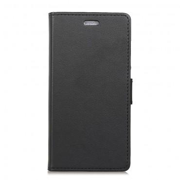 """Elegáns """"Litchi"""" tárca Samsung Galaxy J6 Plus készülékekhez - fekete"""