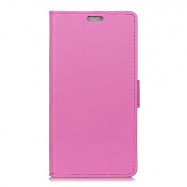 """Elegáns """"Litchi"""" tárca Samsung Galaxy J6 Plus készülékekhez - rózsaszín"""