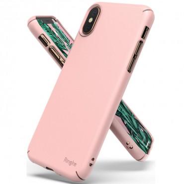 "Ringke ""Slim"" védőtok iPhone X / Xs telefonokhoz – peach pink"