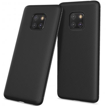 Textured TPU géles védőtok Huawei Mate 20 Pro készülékekhez – fekete