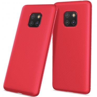 Textured TPU géles védőtok Huawei Mate 20 Pro készülékekhez – piros