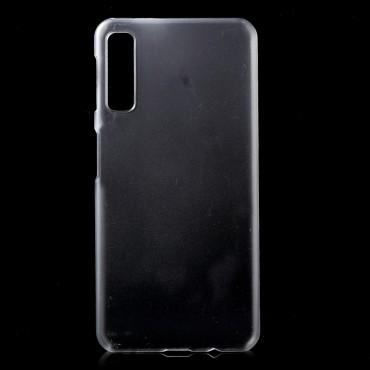 Kemény TPU védőtok Samsung Galaxy A7 2018 készülékekhez – átlátszó