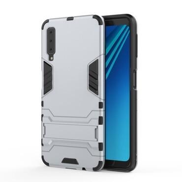 """Strapabíró """"Impact X"""" védőtok Samsung Galaxy A7 2018 készülékekhez – szürke"""