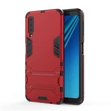 """Strapabíró """"Impact X"""" védőtok Samsung Galaxy A7 2018 készülékekhez – piros"""