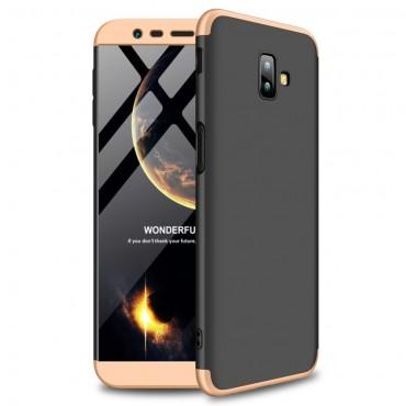 """Elegáns full body tárca """"Sleek"""" a Samsung Galaxy J6 Plus készülékhez - fekete-arany"""