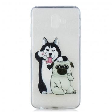 """Vékony TPU géles """"Dog Bros"""" védőtok Samsung Galaxy J6 Plus készülékekhez"""
