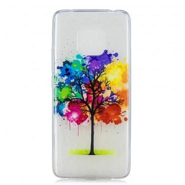 """Vékony TPU géles """"Rainbow Tree"""" védőtok Huawei Mate 20 Pro készülékekhez – rózsaszín"""