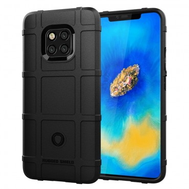 Square Grid TPU géles védőtok Huawei Mate 20 Pro készülékekhez – fekete