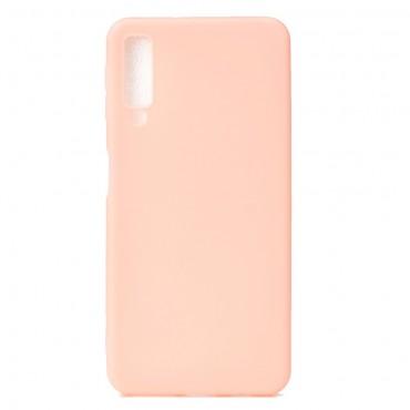 TPU géles védőtok Samsung Galaxy A7 2018 készülékekhez - rózsaszín