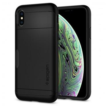 """Spigen """"Slim Armor CS"""" védőtok iPhone X / XS készülékekhez - black"""