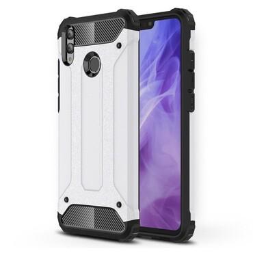 """Strapabíró """"Rock"""" védőtok Huawei Honor 8X készülékekhez - fehér"""