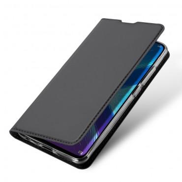 """Divatos """"Skin"""" műbőr tárca Huawei Honor 8X készülékekhez - fekete"""