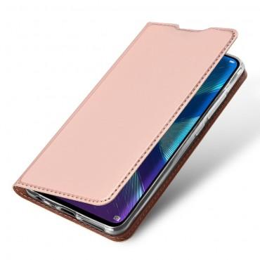"""Divatos """"Skin"""" műbőr tárca Huawei Honor 8X készülékekhez - rózsaszín"""