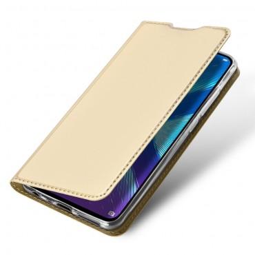 """Divatos """"Skin"""" műbőr tárca Huawei Honor 8X készülékekhez - aranyszínű"""