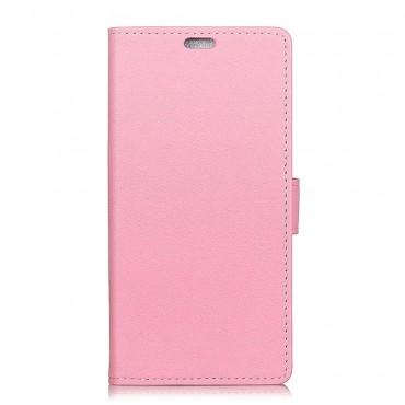 """Elegáns """"Litchi"""" tárca Huawei Honor 8X készülékekhez - rózsaszín"""
