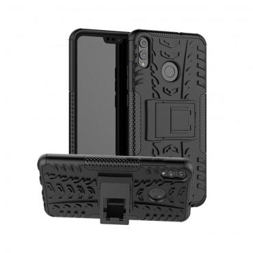 """Hibrid TPU géles """"Tough"""" védőtok Huawei Honor 8X készülékekhez - fekete"""